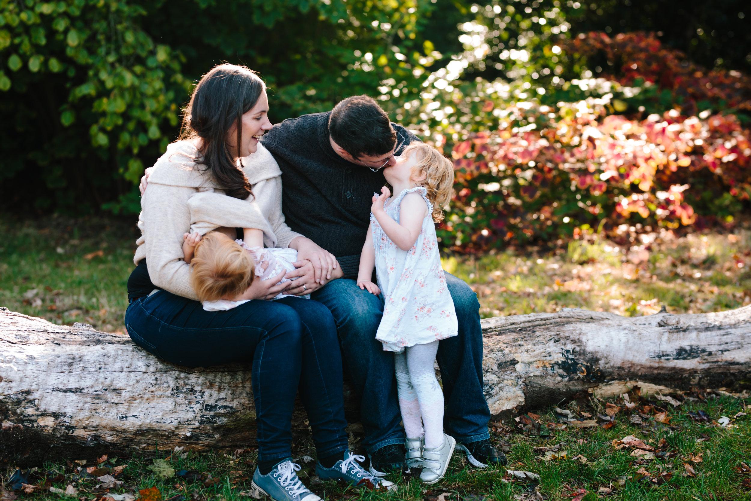 Beautiful back-light - Wimbledon family photographer