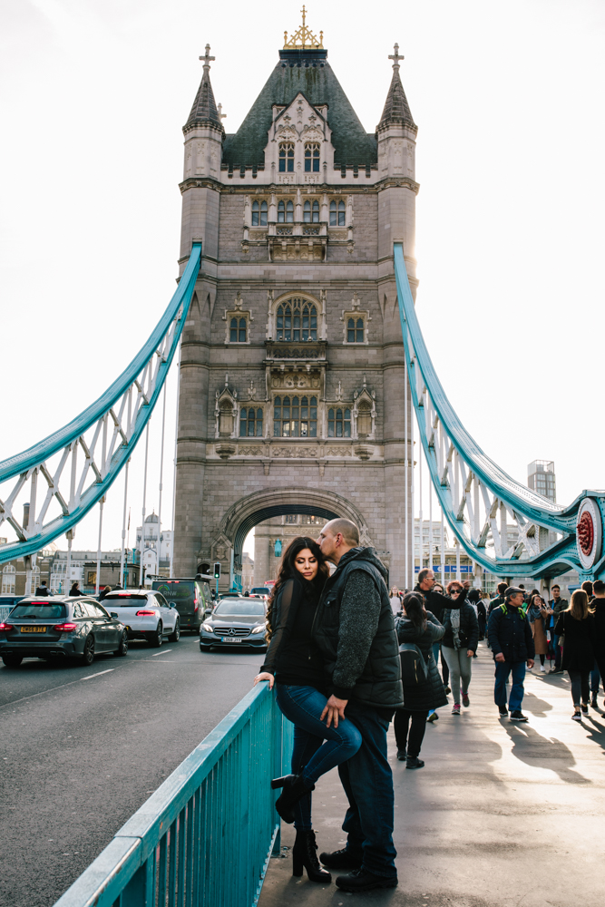 Couple on Tower Bridge - London Photographer