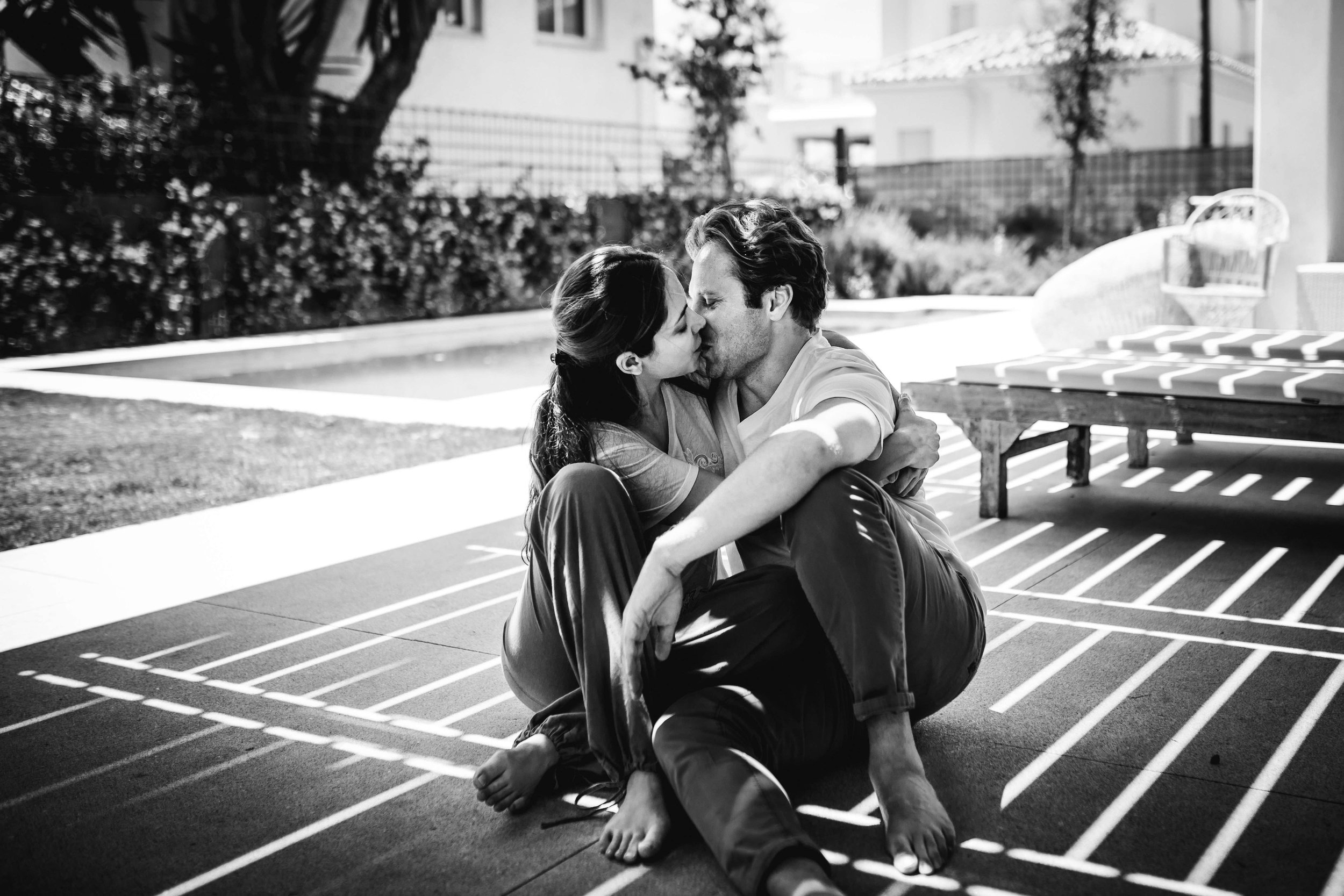 Couple at home in Marbella