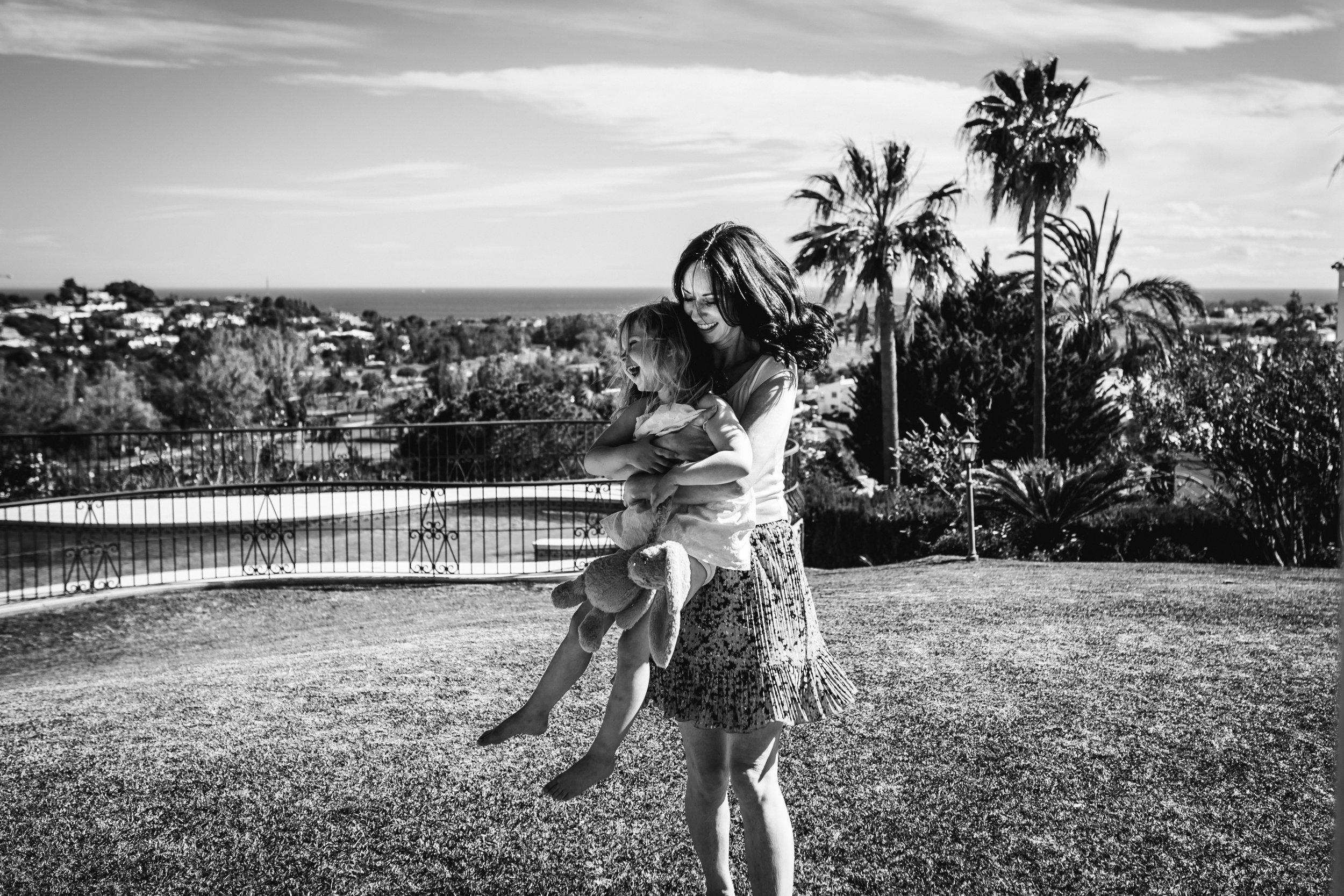 Mum and daughter love in Marbella