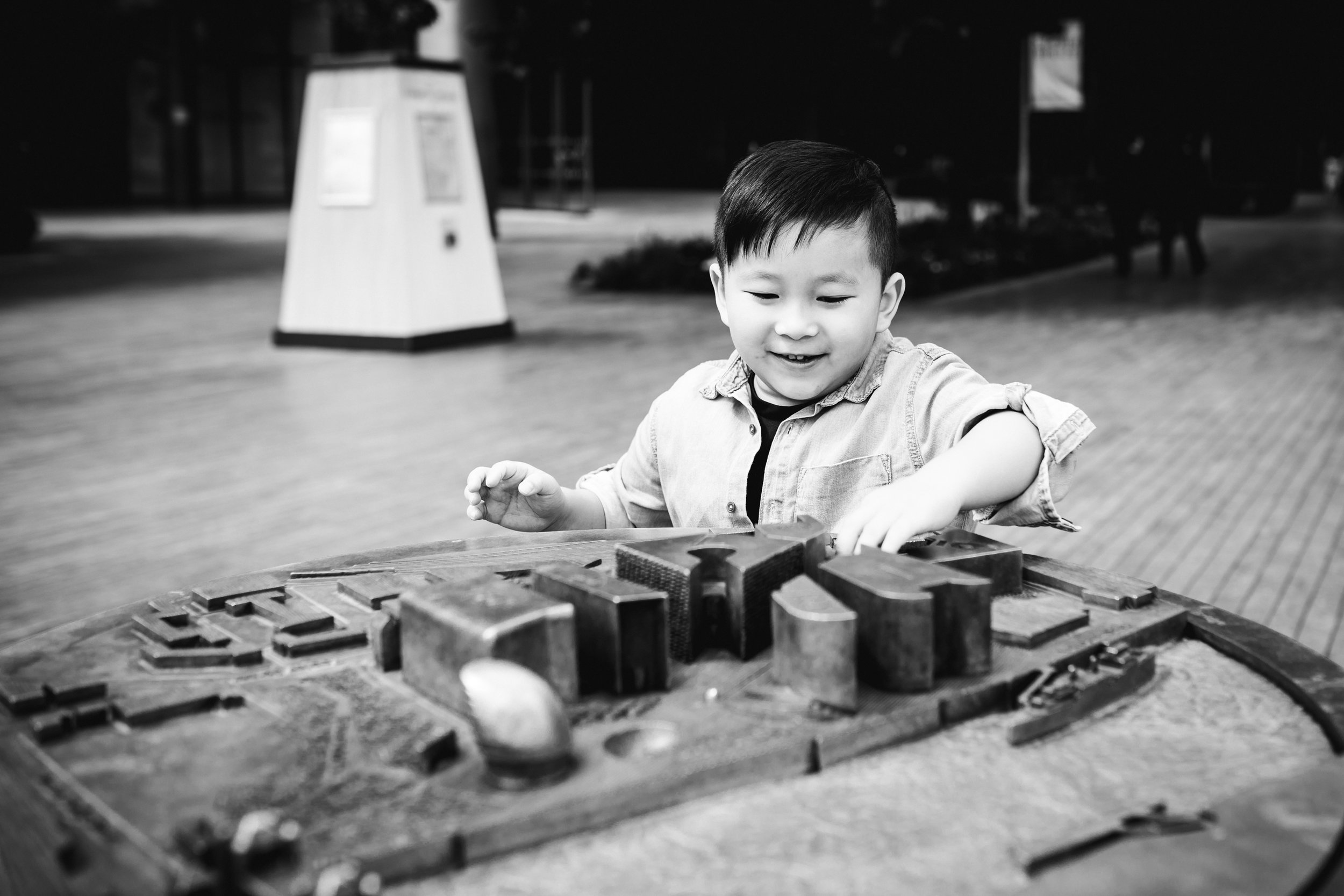 Child near Tower Bridge - London Holiday Photography