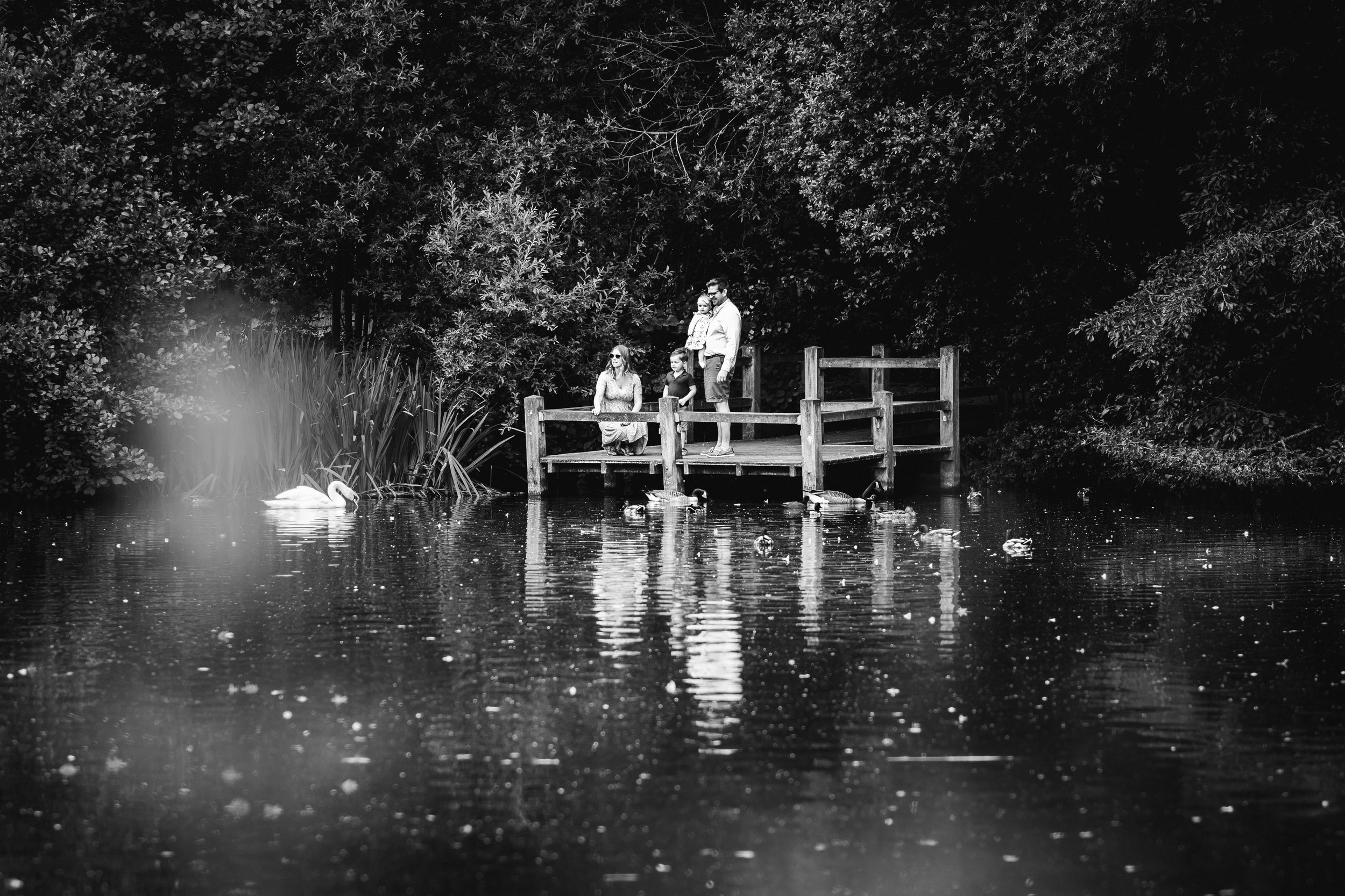 At the ponds in Wandsworth Common - London Family Photography