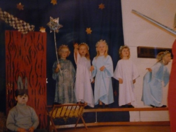 Whilst writing this I decided to try and find the oldest photo of Lucy and I together. Well folks, this is it, our nursery nativity play. You see that miserable af donkey in the corner? Ladies and Gents, I give you Lucy Peel.