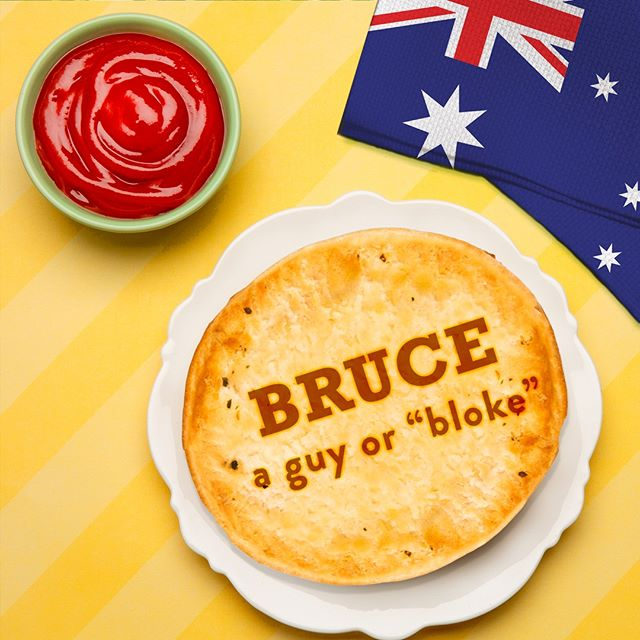 """In Australia, one slang term for a 'guy' is """"Bruce."""" Definitely confusing for Aussies actually named Bruce. Can you guess the slang term for a 'lady?' 👫"""