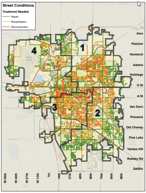 View more detailed maps:    Citywide Map >>   Lincoln District 1   Lincoln District 2   Lincoln District 3   Lincoln District 4