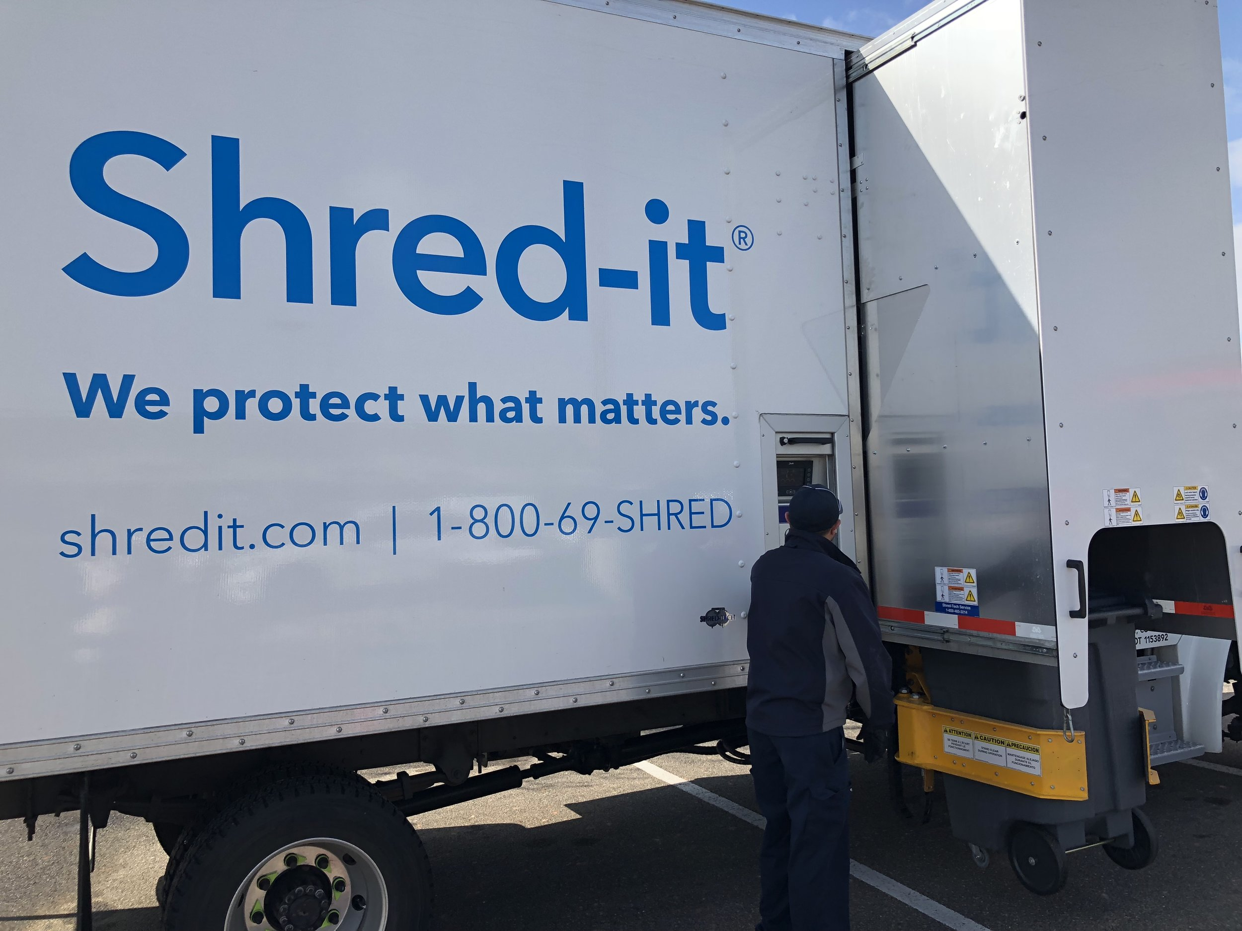 Shred-it Truck at Bengtson Wealth Management