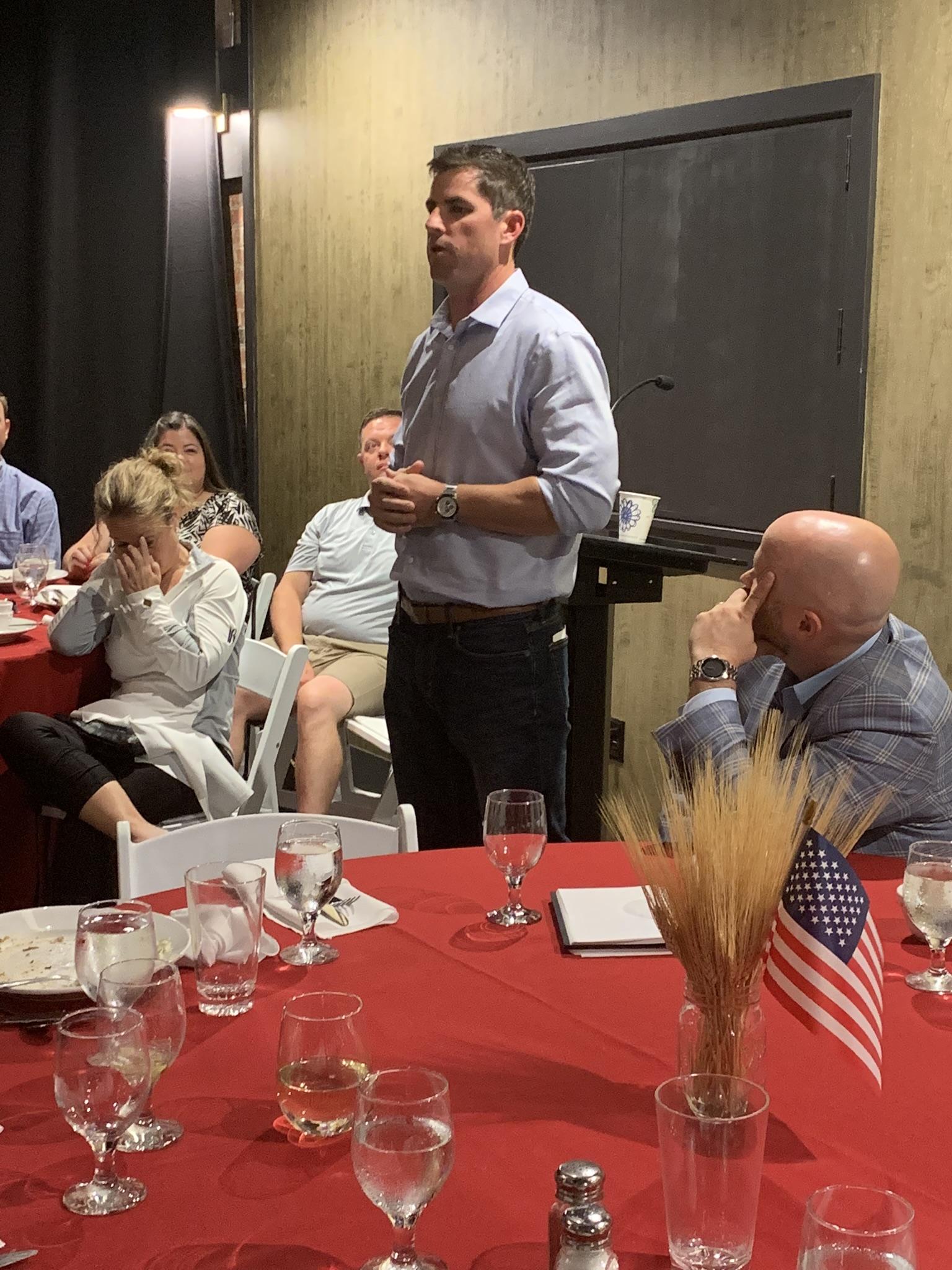 Troy Malesky, guest speaker at Bengtson Wealth Client Dinner