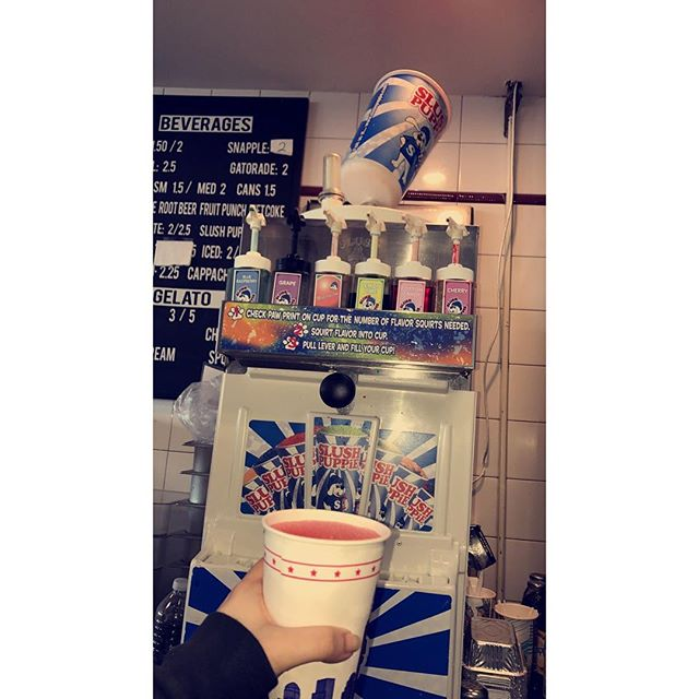 Come enjoy a variety of different flavor slush puppies only at Pizza D'amore Bayparkway! #8949bayparkway #7182664433