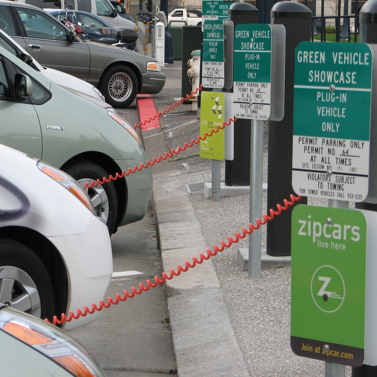 Electric vehicle charging stations -