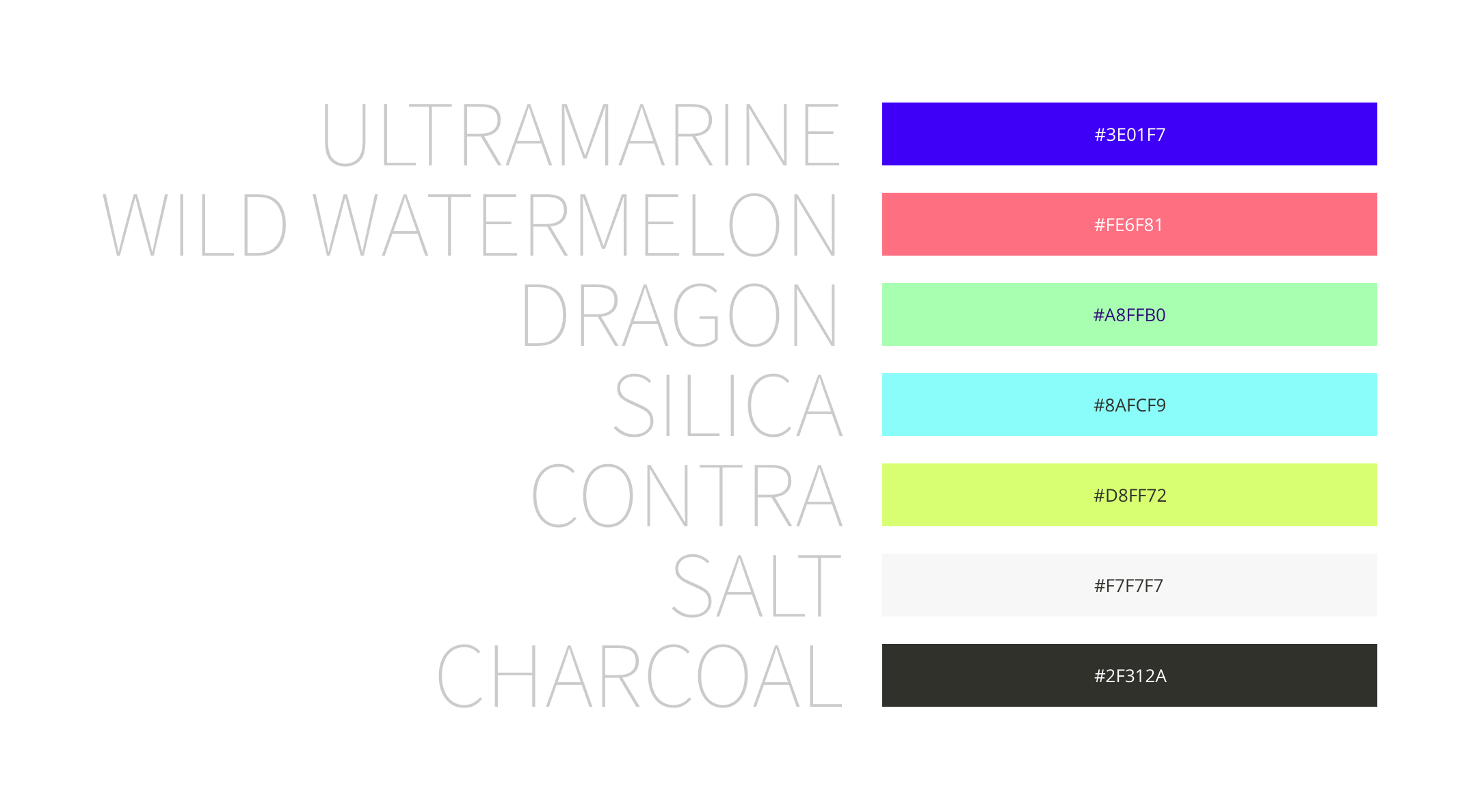 ↑ brand colours combine natural base tones with high-performance sports equipment hues