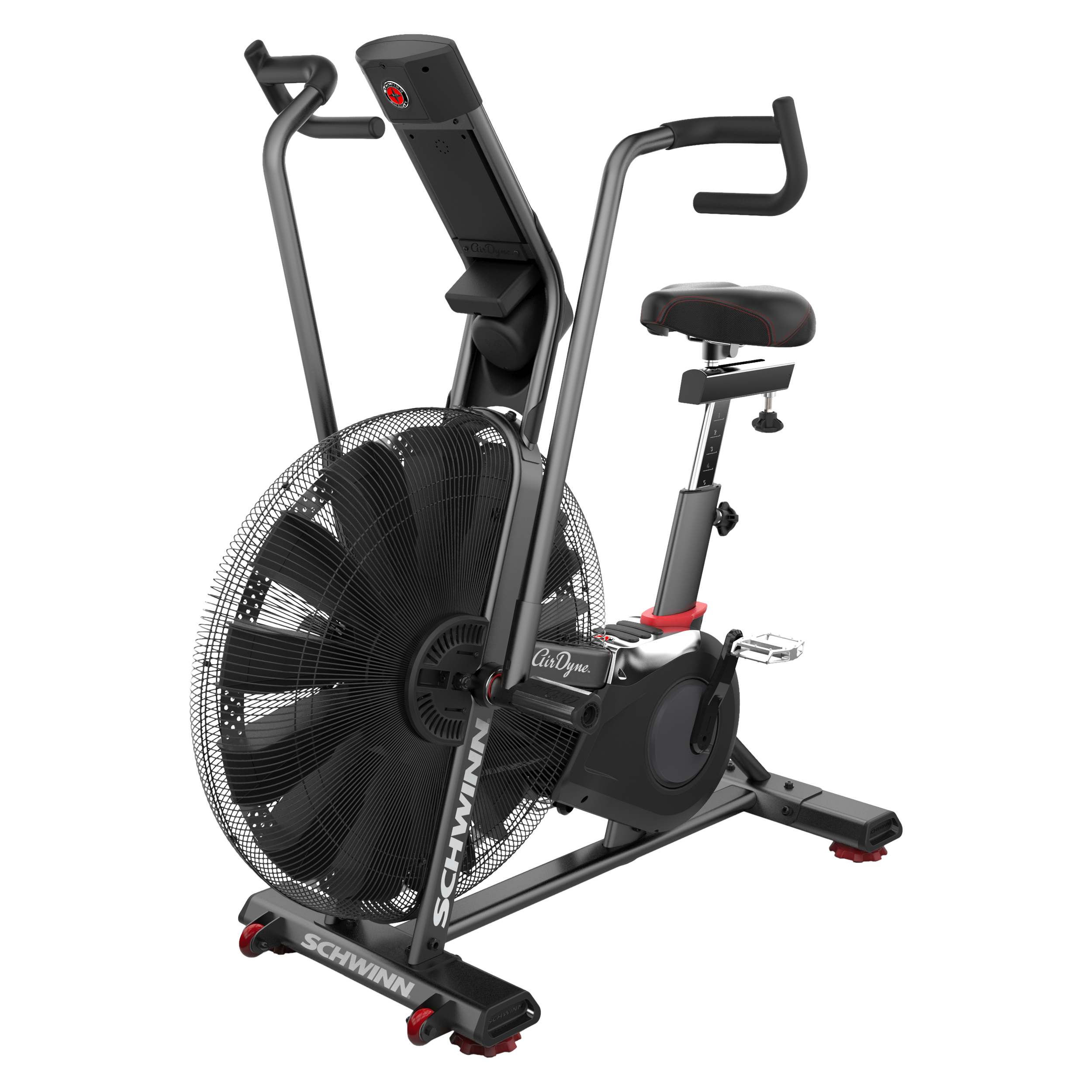 Schwinn Upright Bike  - High resistance and reduced noise - Measures heart rate in real time - Multi-position hand grips provide a variety of workout choices
