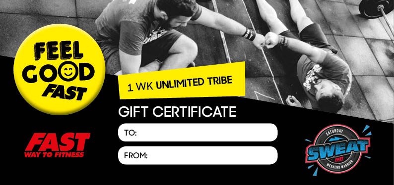 £10 gift (for him) - I week of Unlimited Tribe Classes PLUS Sat Sweat