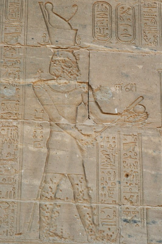 400 BC relief from the Temple of Philae in southern Egypt: Baseball has deep roots in ancient Egypt