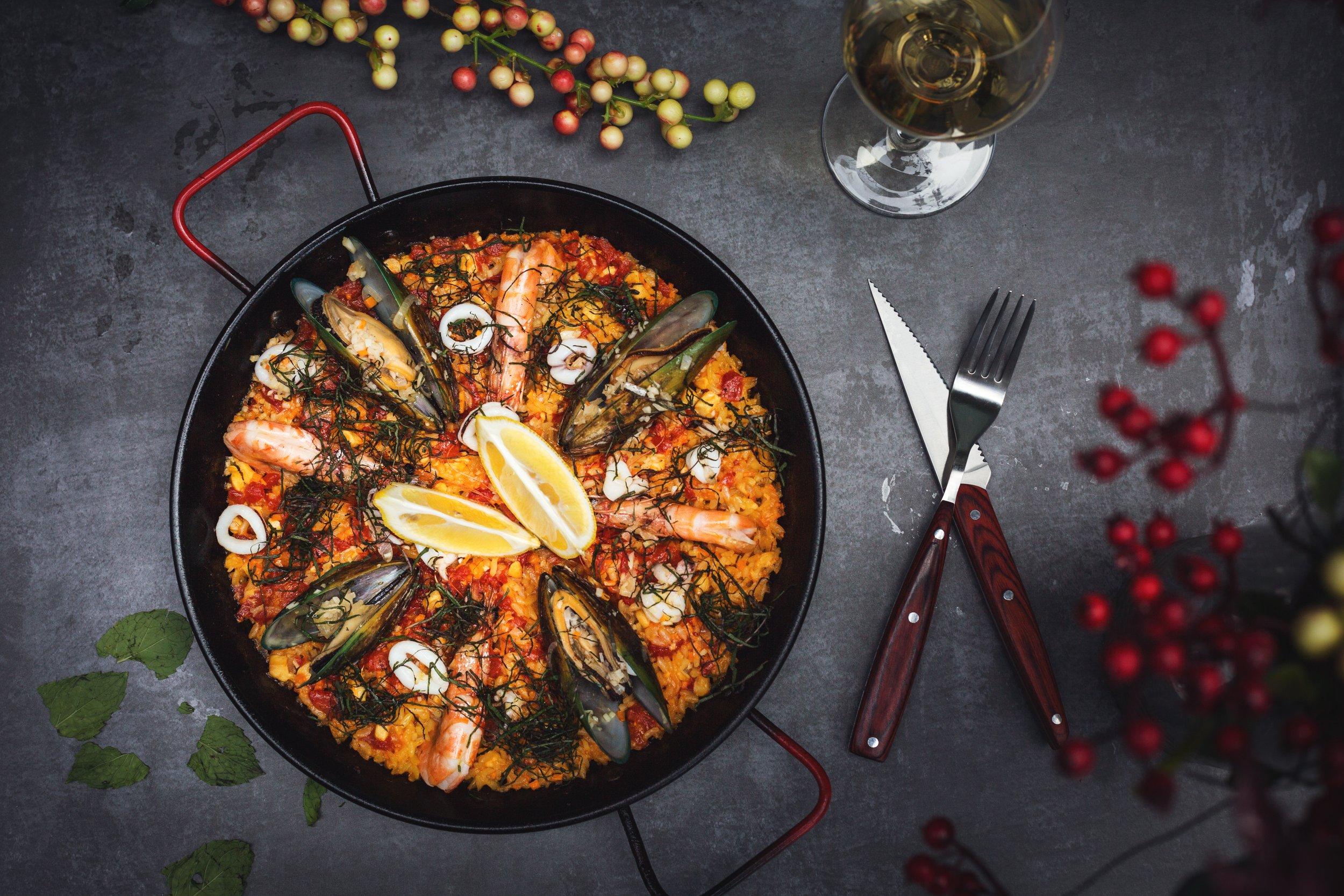 - paella and tapas