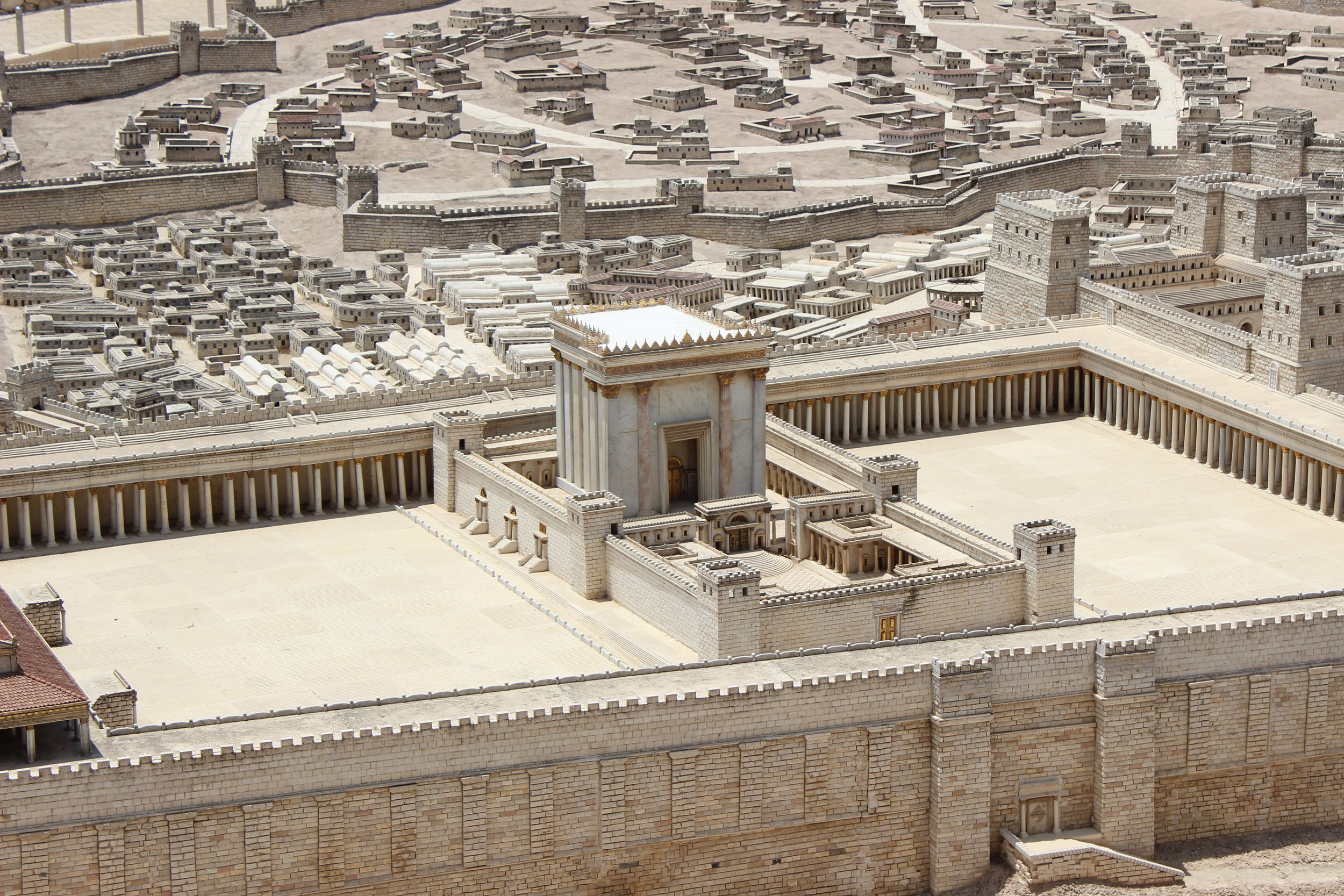 A reproduction of the temple built by Solomon