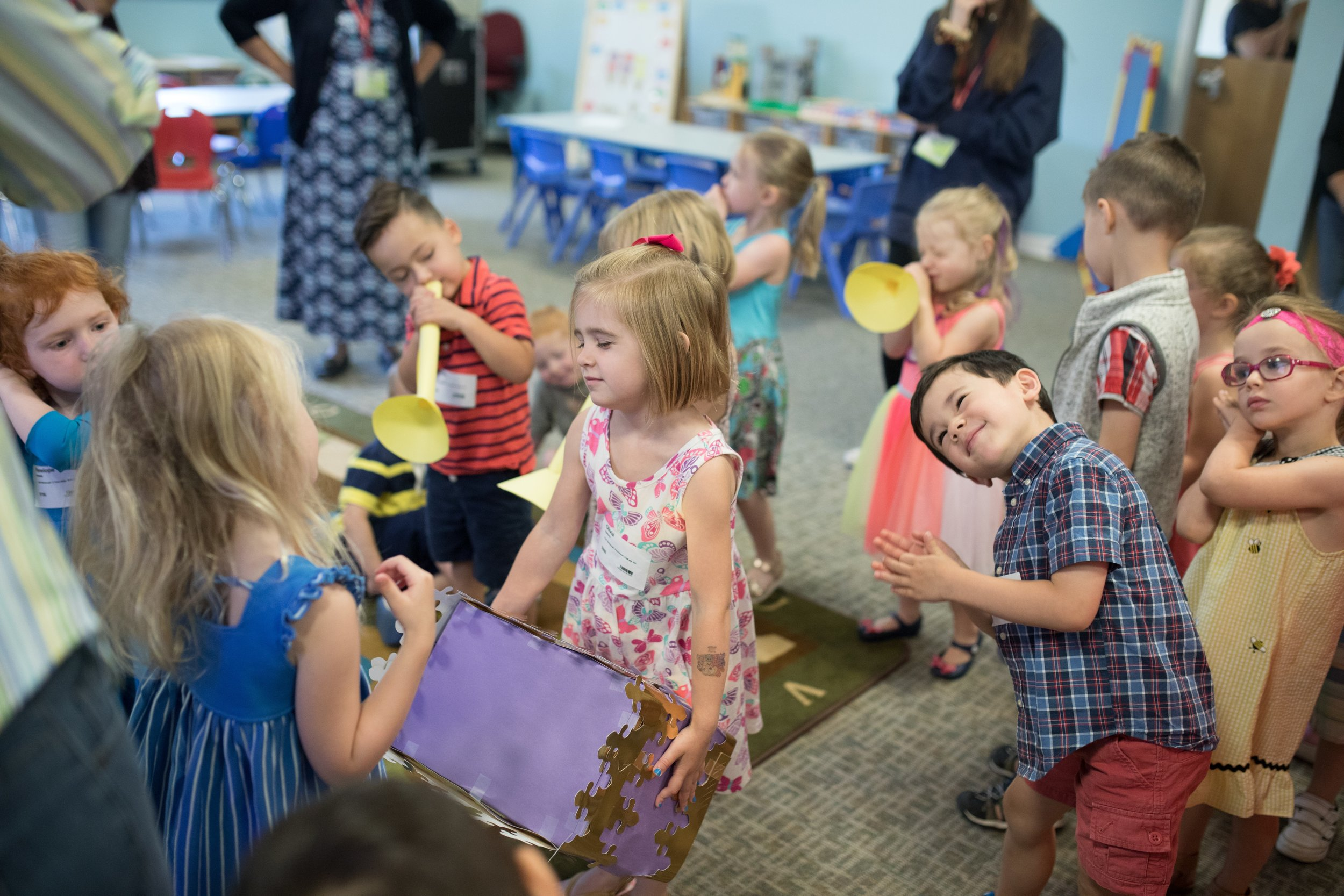 Preschool - Your inquisitive preschooler will begin to learn the basics of the Gospel: God made the world, there is brokenness in our heart, and Jesus is the only Savior.We use a mixture of focused play, activities, teaching, song, and dance.
