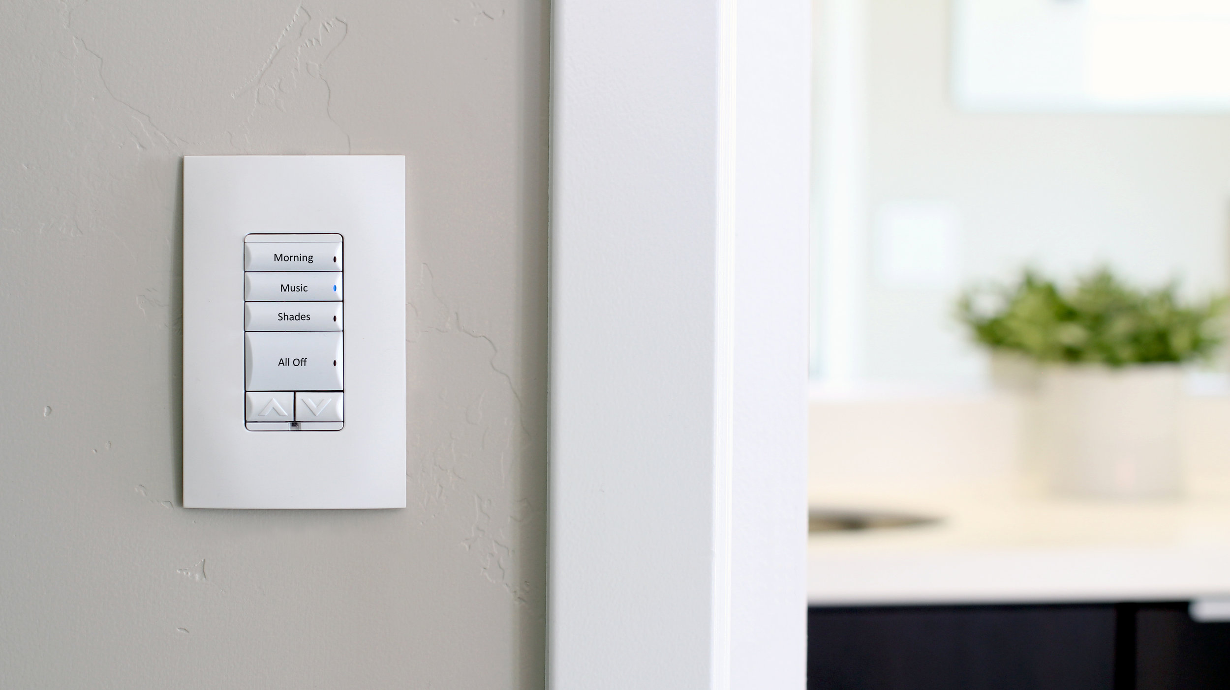 Smart Lighting    Smart Lighting is about control and flexibility of setting the mood of the home. With a single button press you could turn off all the lights in the house or set the mood for your dinner party.