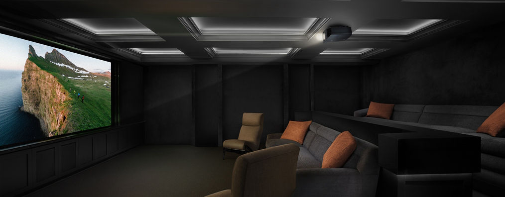 Projection - Two Piece projection is going to give you the most theater like experience. Projection and screen technology has advanced to a point that you can use in multi purpose rooms now.
