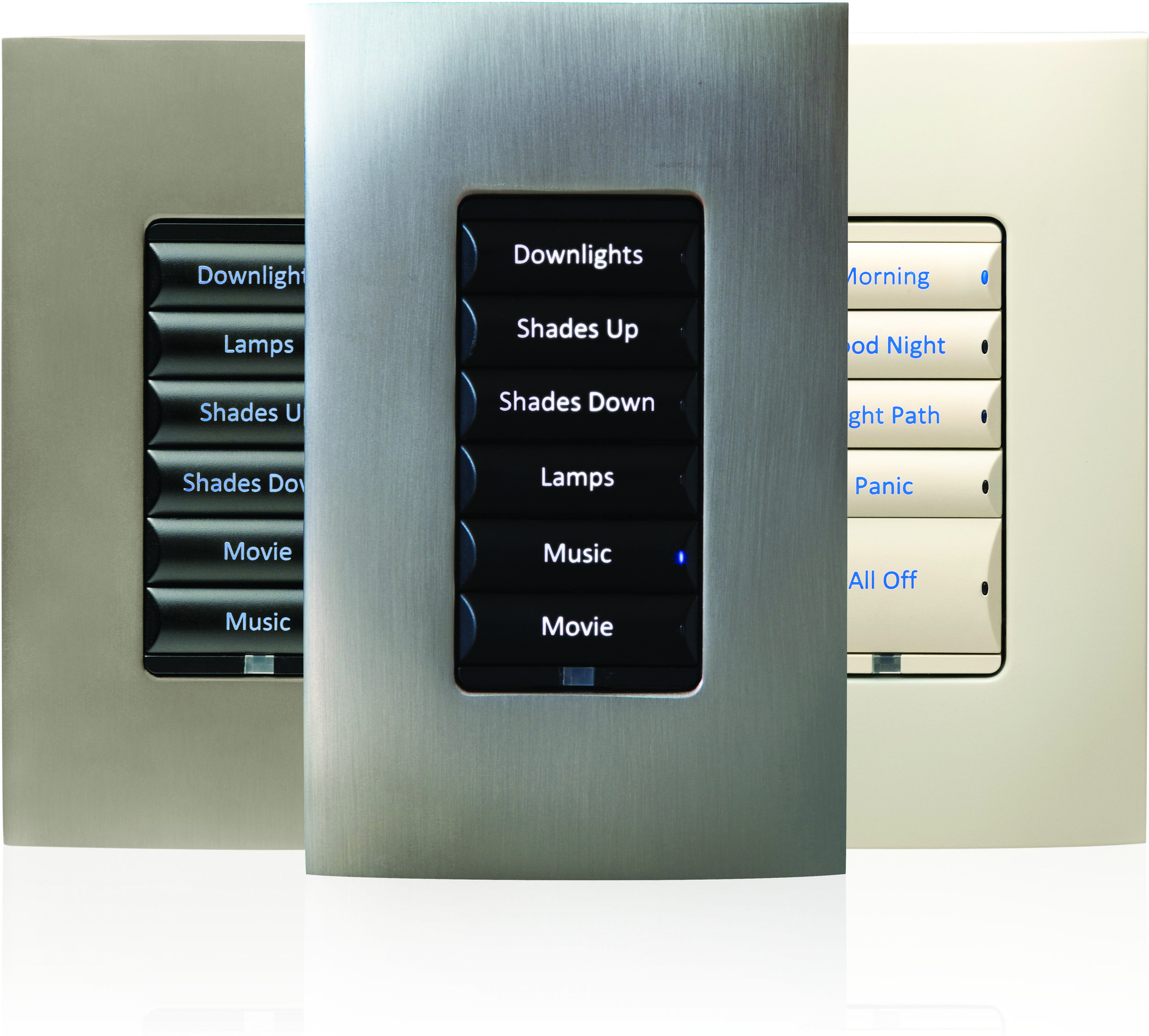 Control4 Dimmers - Control 4 offers smart dimmers, smart switches, keypad dimmers and even panalized lighting. Smart dimmers are easily retrofit-able in most homes to add a cleaner look with more control.