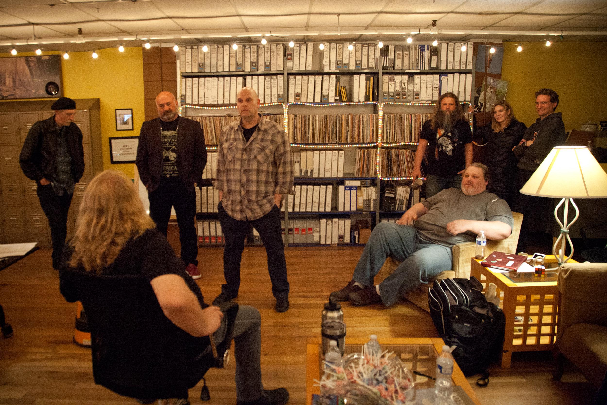 Billy Earheart, Warren Haynes (seated) Tom Siering, M. Giovino, Jamey Johnson, TW Cargile (seated) Alison Krauss, Viktor Krauss; Nashville, TN