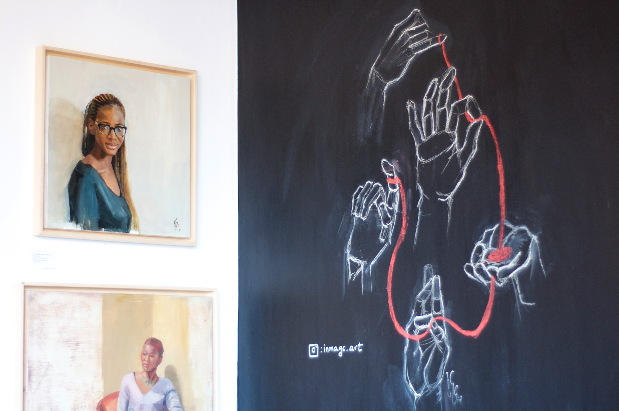 The café's Black Wall gallery