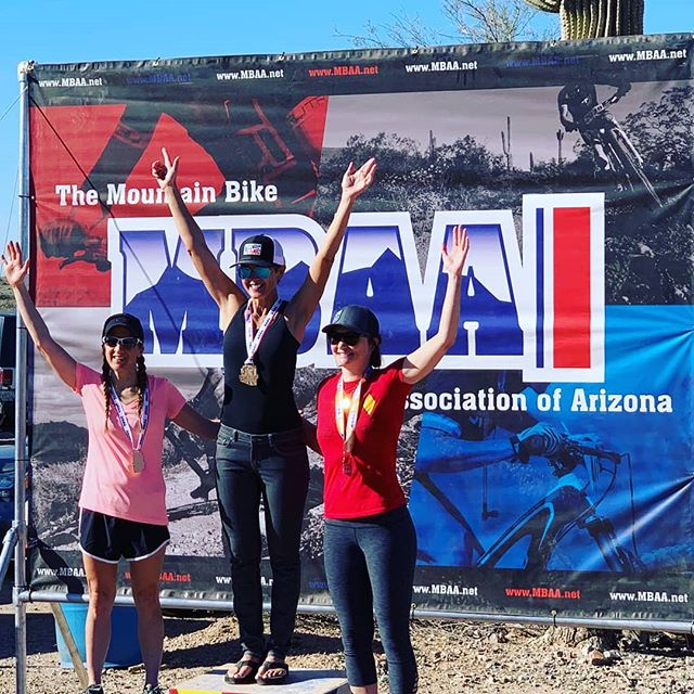Congrats to CK athlete Jane Meneely on her victory at Estrella MBAA last weekend!  Jane qualifies to race in the expert 45+ age category but finds faster competition in the younger categories so she choose to race with the young bucks....congrats on still snagging up the first place trophy!
