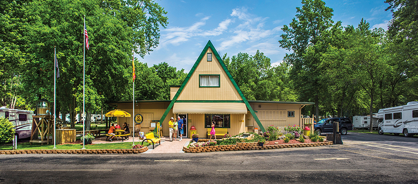 Buckeye Lake KOA - the classic A-Frame camp office