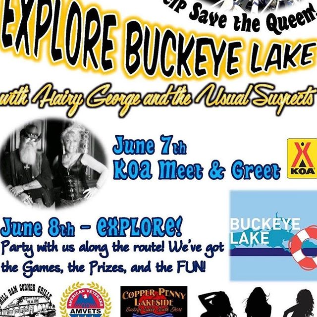 Here they come HAIRY GEORGE AND THE USUAL SUSPECTS June 7- 8 - 9 help us play games, 50/50 and contribute to finish the Queen of the Lake lll. Brought to you by the participating businesses and EXPLORE BUCKEYE LAKE! #explorelickingcounty #fairfieldcountyohio #lickingcounty #perrycountyohio #buckeyelakeohio #lakelife #experiencecolumbus #ohiofindithere #queenofthelake