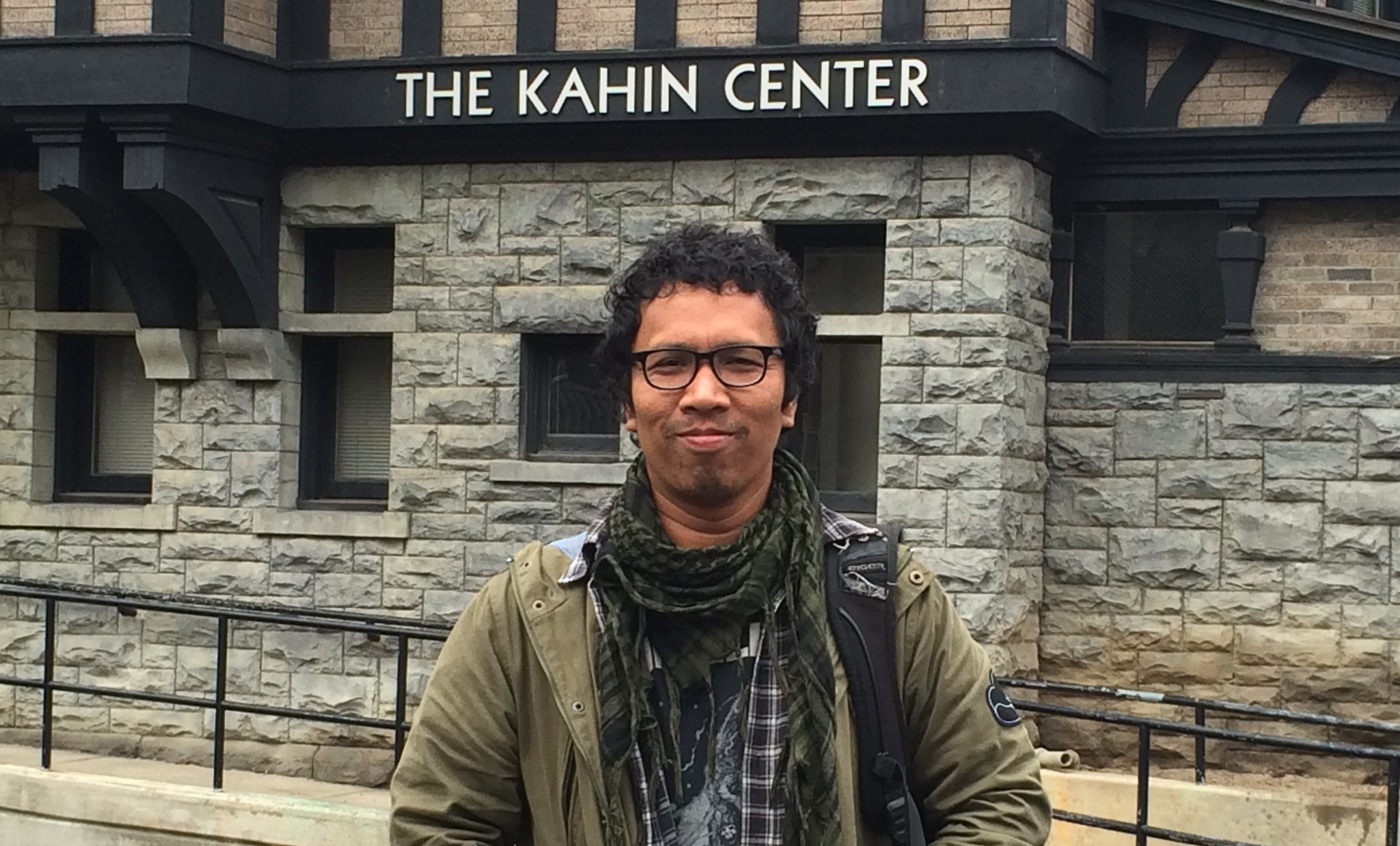 Javanese professor, curator and art historian, Aminudin Siregar TH, visiting the Kahin Center for Southeast Asian Studies while working in New York.