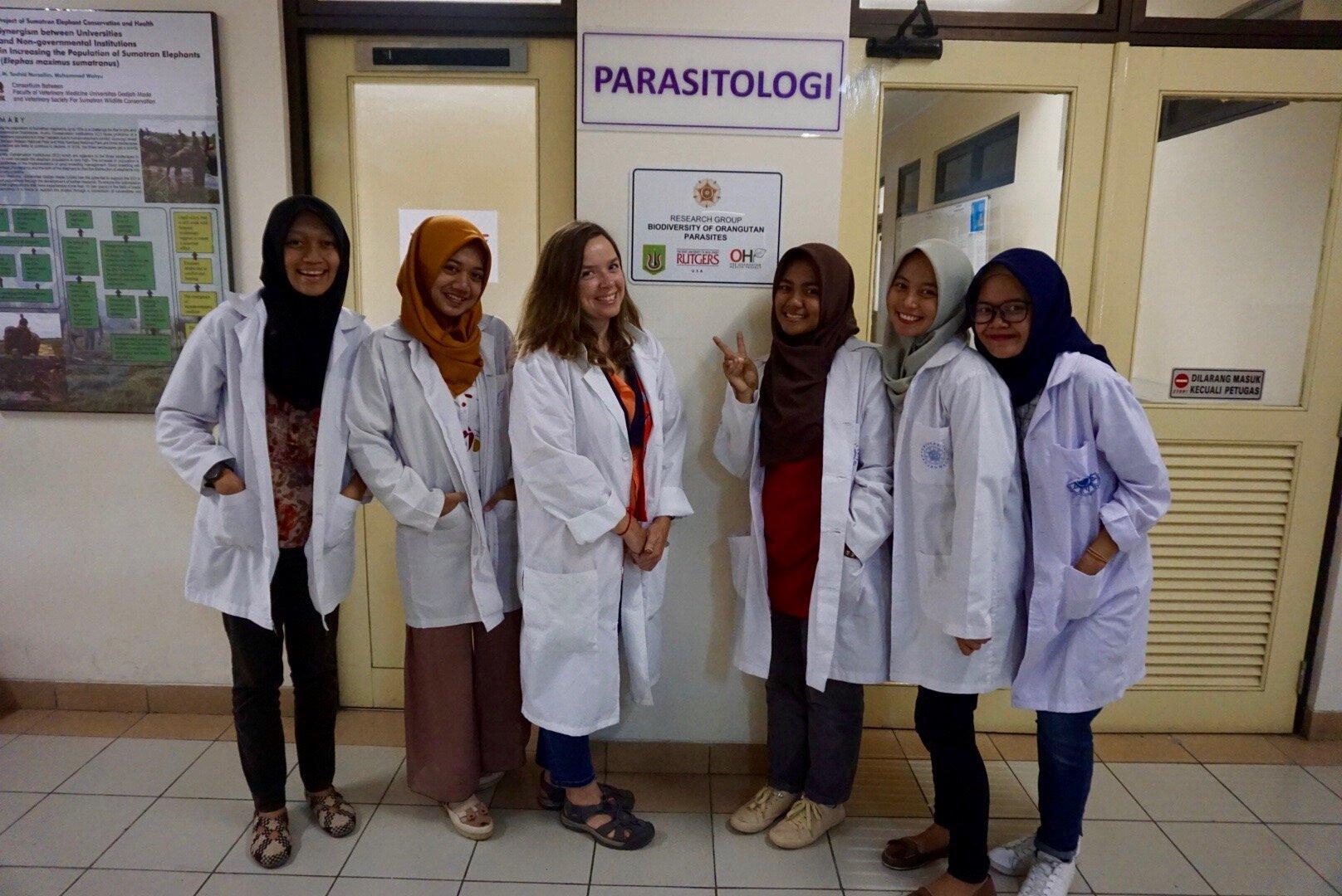 Wendy Erb working with students the University of Gadjah Mada in Yogyakarta