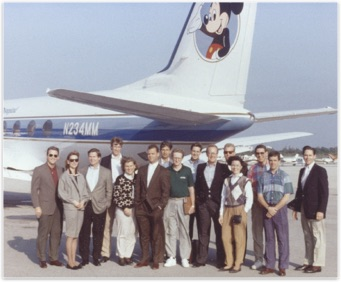 Celebration Team heading out on a benchmarking trip in Walt Disney's plane.