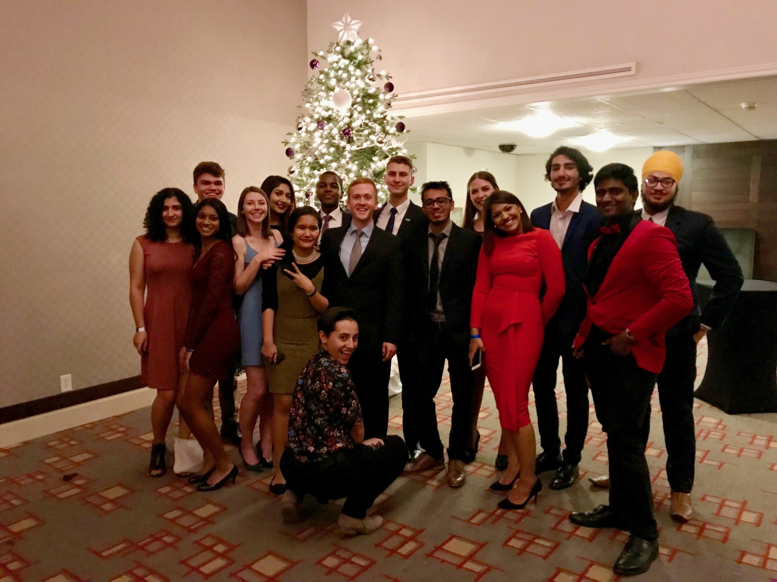Ryerson's delegation to Queen's Model UN, conference 2017