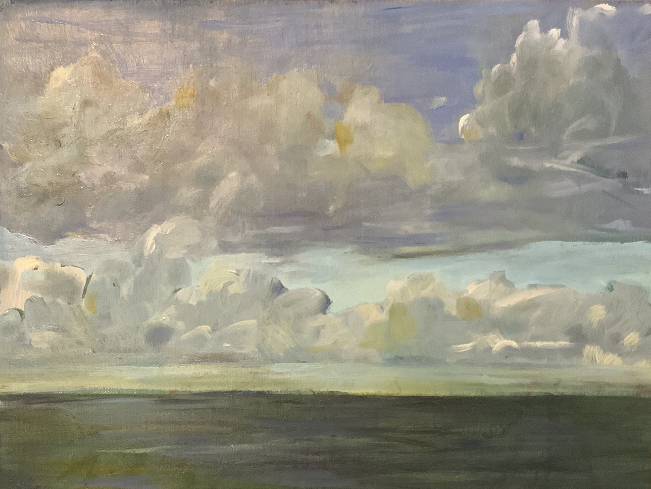 Cumulus Castellanus over the Sea