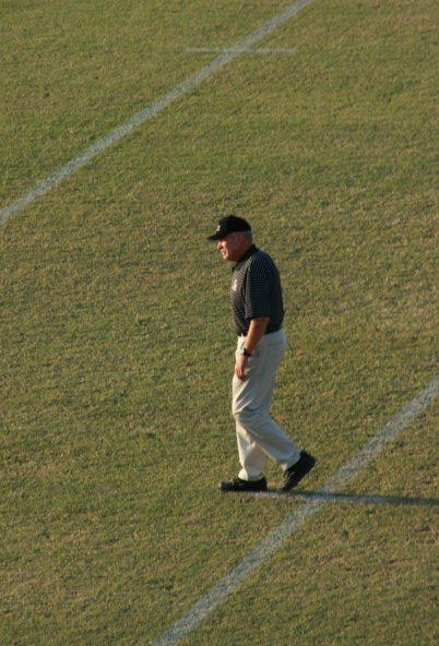 walking the field