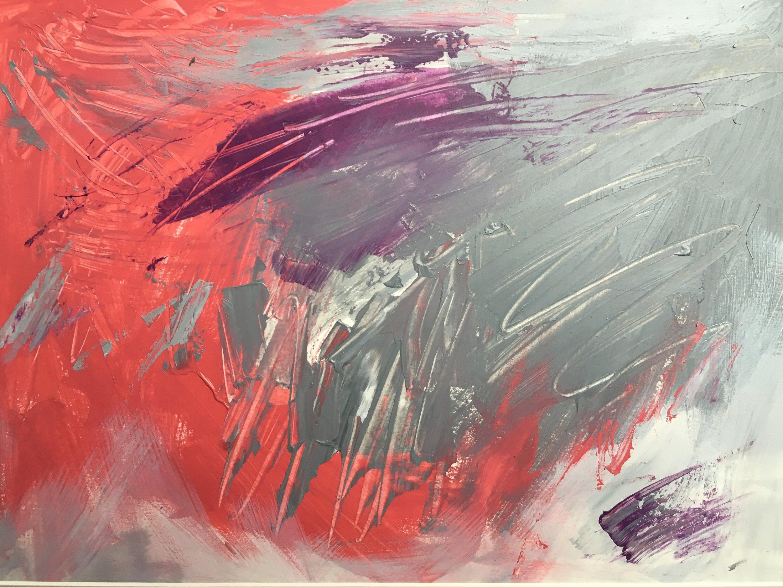 """Violet Fog #1, 11 x 14"""""""