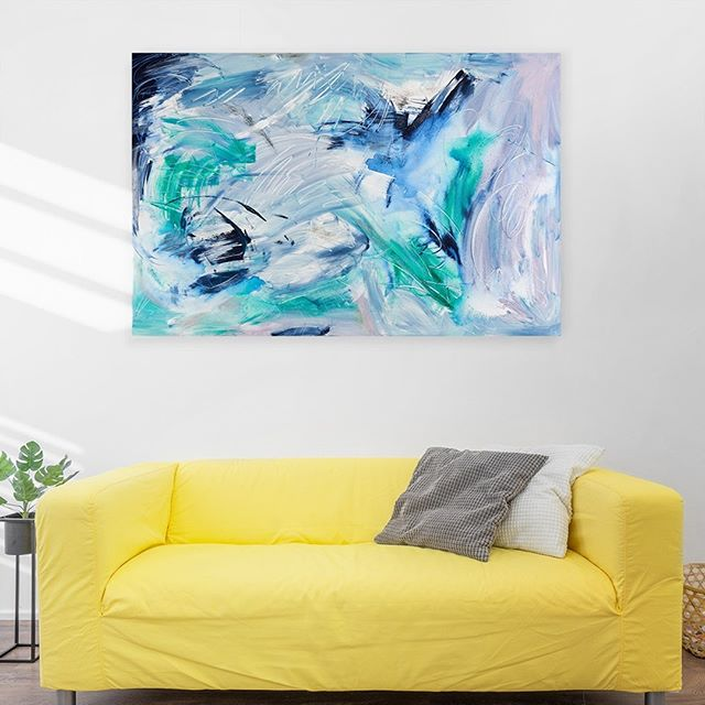 "Light as air.⁠ ⁠ A recent piece, Zephyr, 40 x 60""⁠ .⁠ .⁠ .⁠ #EugenieDiserioArt #visionaryart #abstractpainter #artcollector #lifeisart #visuallife #modernart #womeninart #abstractpainting #abstractartist #contemporaryart #fineart #interiordesign #interiordecor #abstractexpressionism"