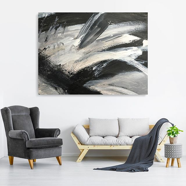"The art of grayscales and keeping things in balance.⁠ ⁠ Requiem, acrylic on canvas, 36 x 48""⁠ .⁠ .⁠ .⁠ #EugenieDiserioArt #visionaryart #abstractpainter #artgallery #artcollector #lifeisart #visuallife #womeninart #abstractpainting #abstractartist #contemporaryart #interiordesign #interiordecor #abstractexpressionism #grayarea"