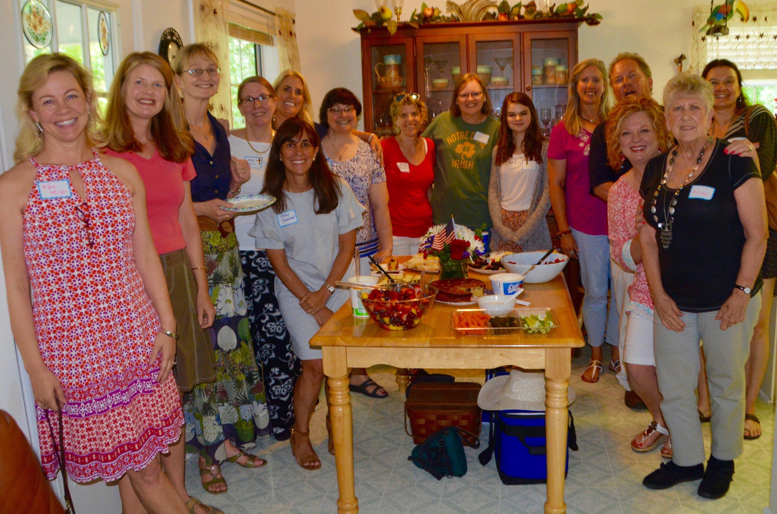 Joy filled faces of Marist friends