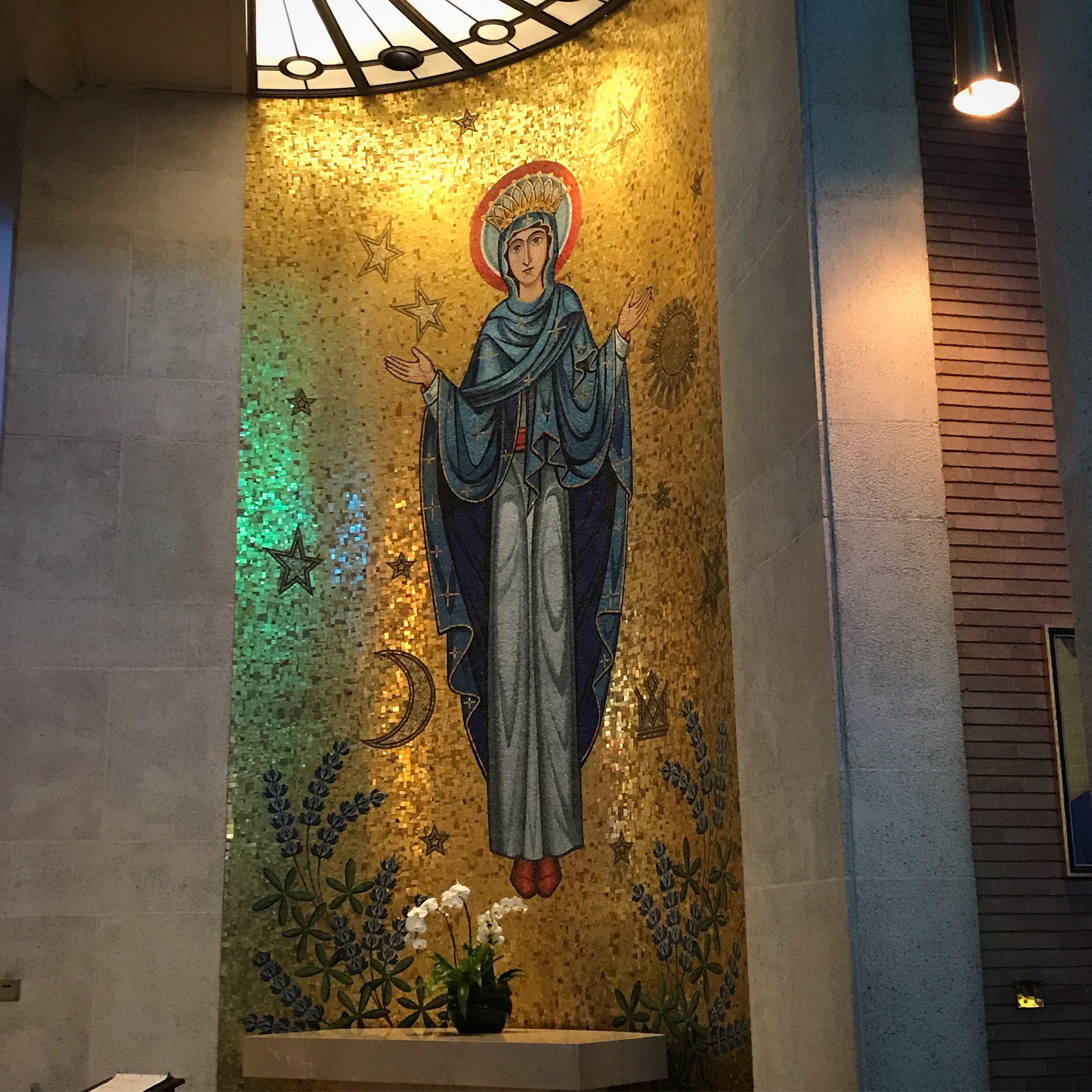 St. Mary, Side Chapel St. Michael Catholic Church, Houston.
