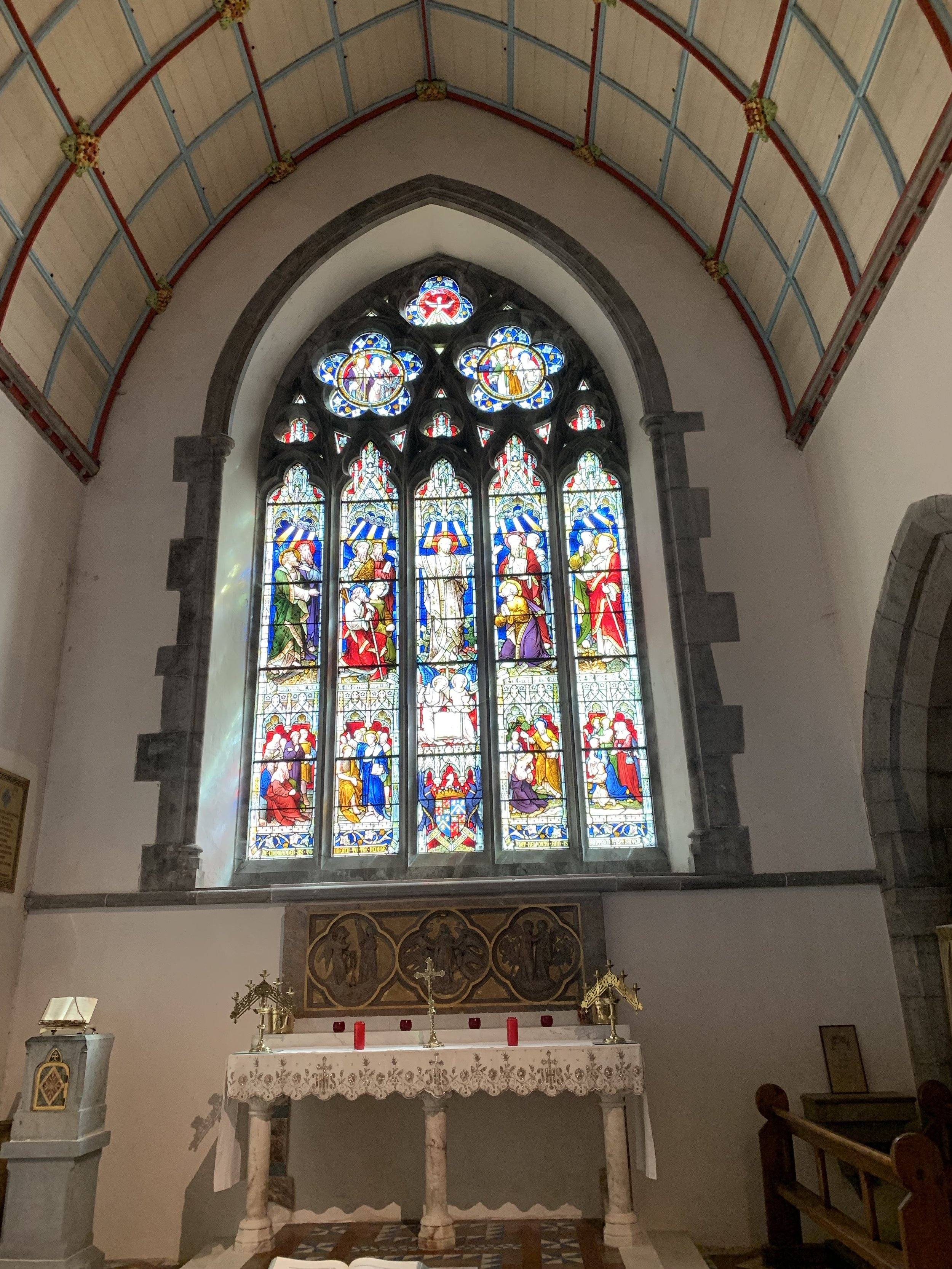 stained glass in adare/ Trinitarian Abbey