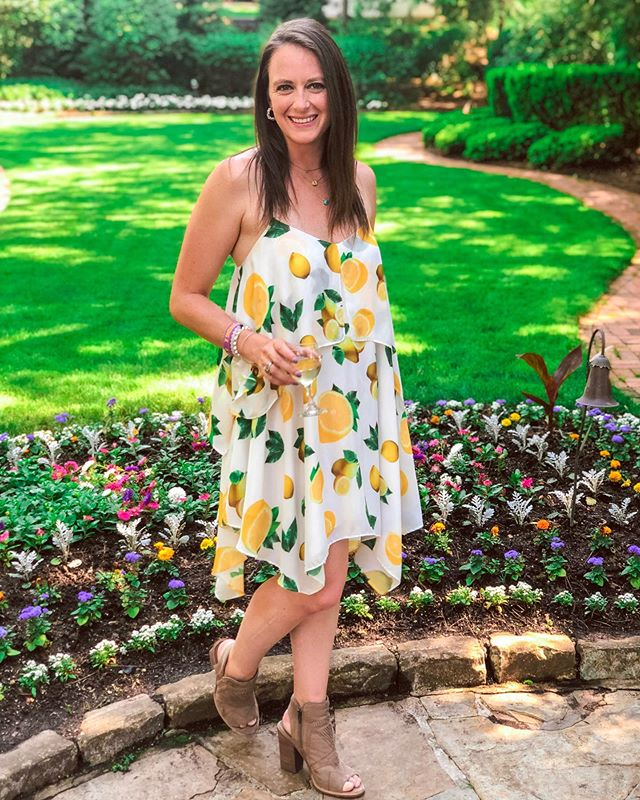 When life gives you lemons, make Lemonade crushes. Celebrating a dear friend's bridal shower this weekend in this gorgeous lemon print dress from @letote and @catherine_malandrino #travelingtrendy Dress: @catherine_malandrino @letote  Shoes: @vincecamuto @nordstromrack . . . . . . . . . . . . . . . . .  #outfitoftheday #theeverygirl #fashionable #thatsdarling #fashionblog #currentlywearing #fashiondiaries #streetstyle #streetstyleinspo #springstyle #todaysoutfit #styleblogger #baltimoremagazine #liveauthentic #styleoftheday #fashionaddict #styleinspiration #thebmorecreatives #visualoflife #discoverunder10k #fashionlovers #styleobsessed #streetstyleinspo #baltimorestyle #baltimoreblogger #letote #weekendvibes #catherinemalandrino #fashionadvisors