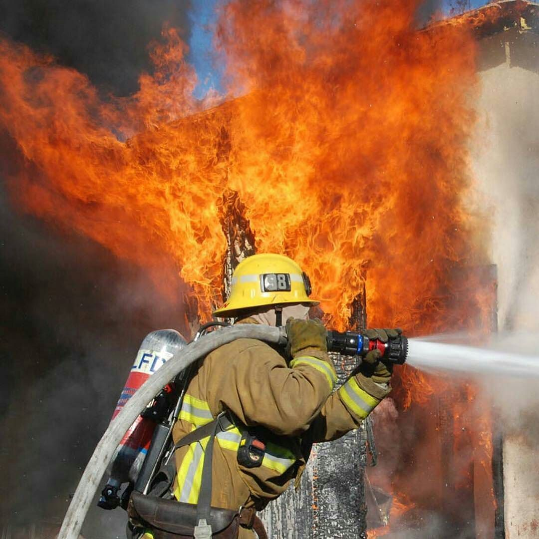 Fighting a house fire