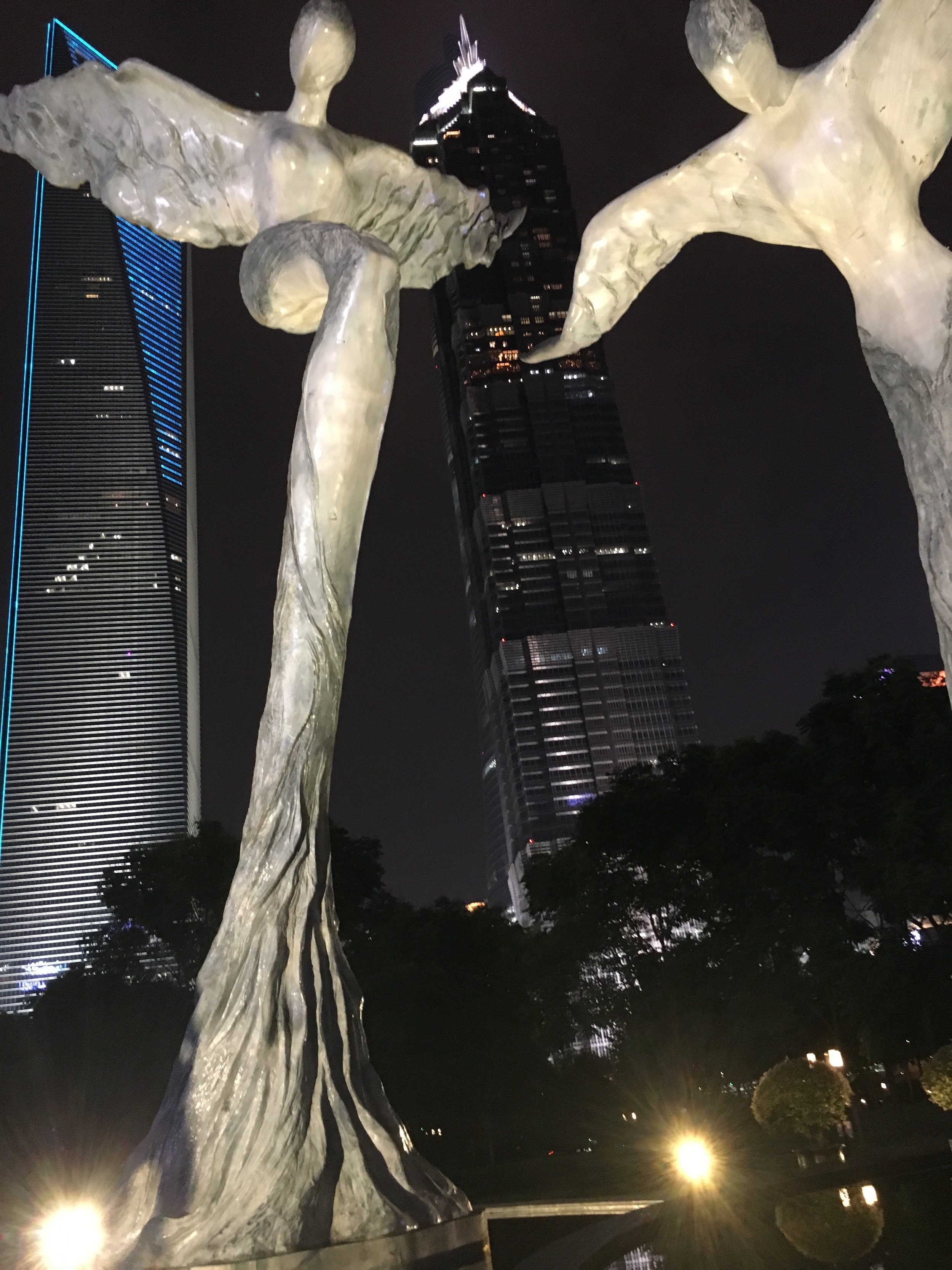 Lujiazui Central Green Park in Shanghai China