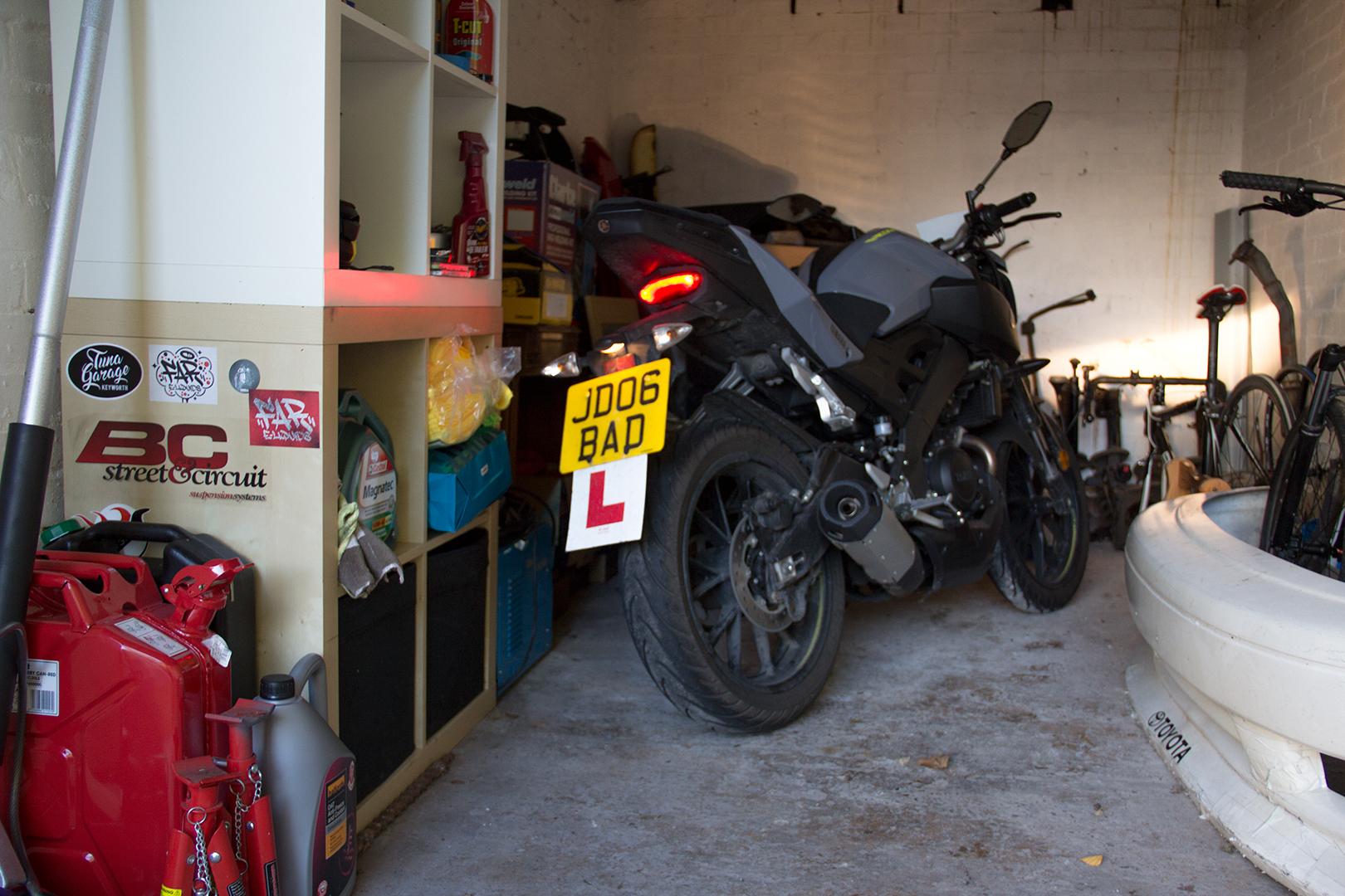 Bike in garage
