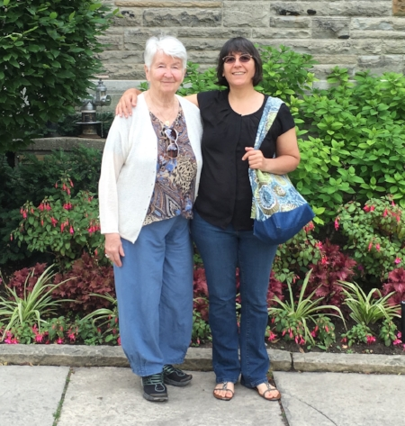 Lisa and Hedy, June 2016, in Toronto