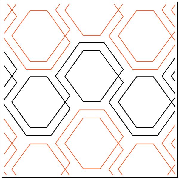 Diagonal Plaid Hexies