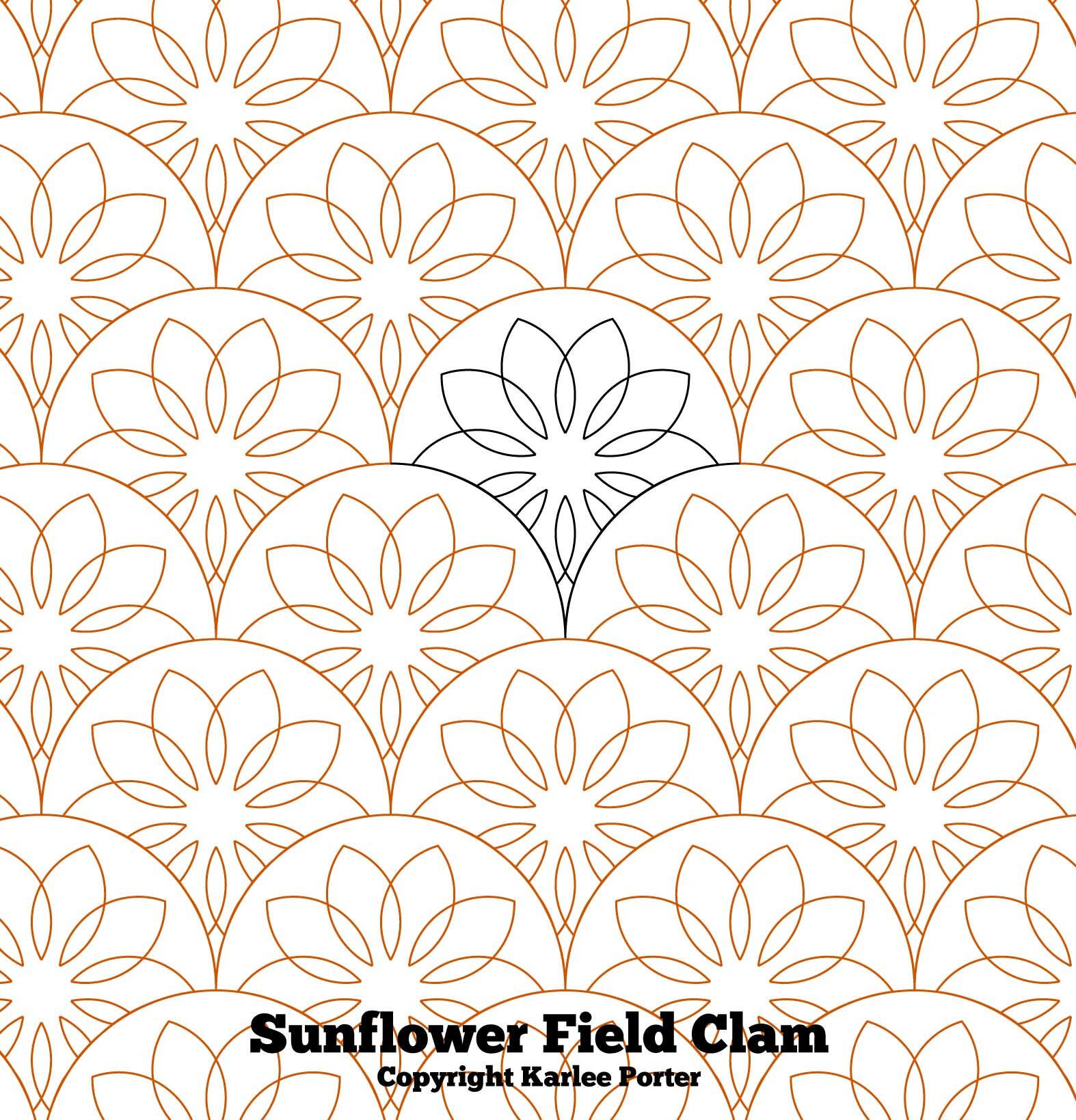 Sunflower Field Clam