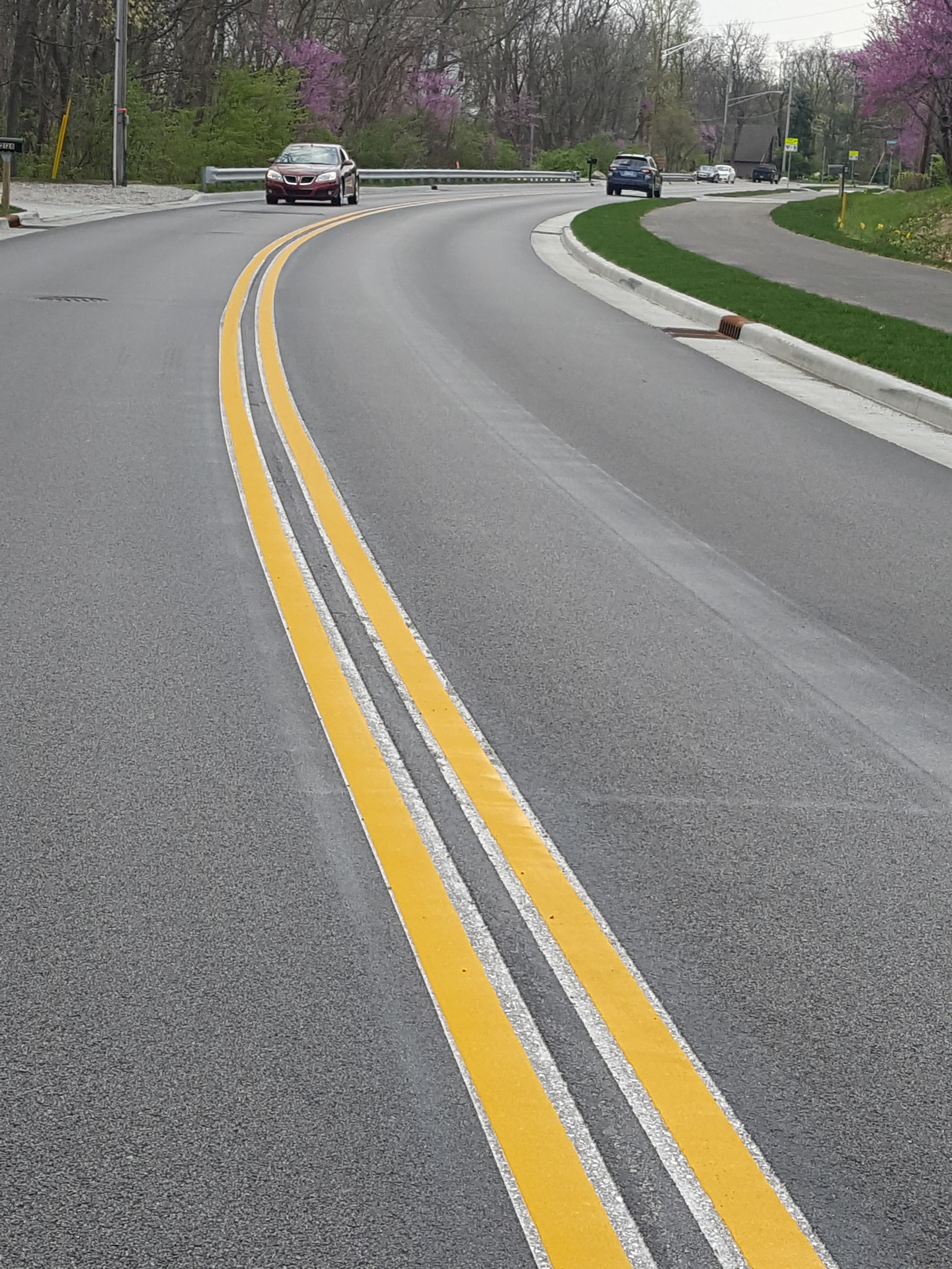 Happy Hollow Road Thermoplastic marking and grooving - West Lafayette