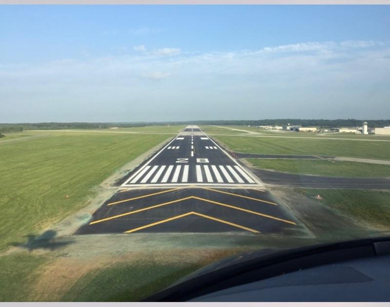 Purdue airport runway striping