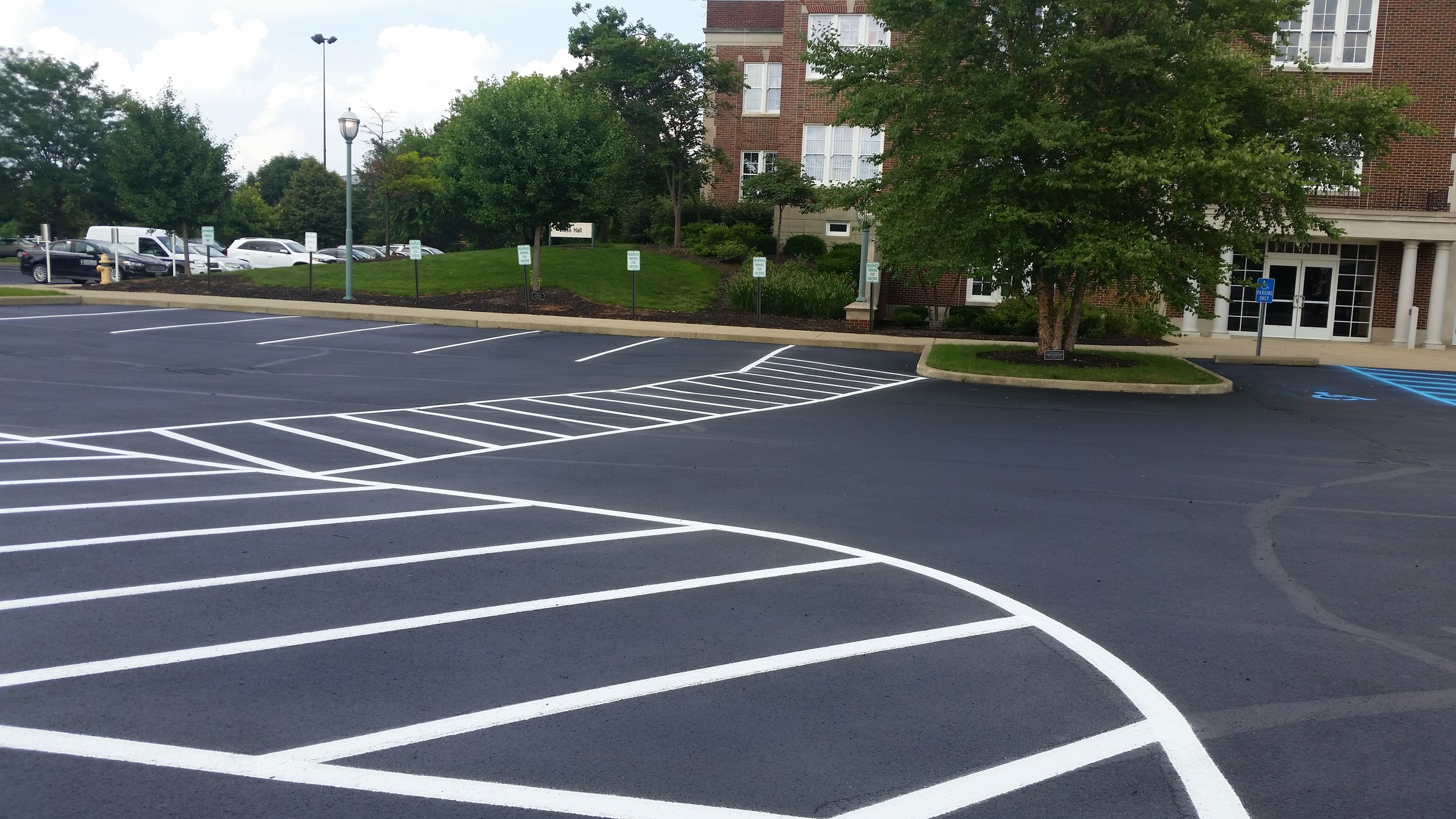 Ivy Tech parking lot striping Lafayette, IN